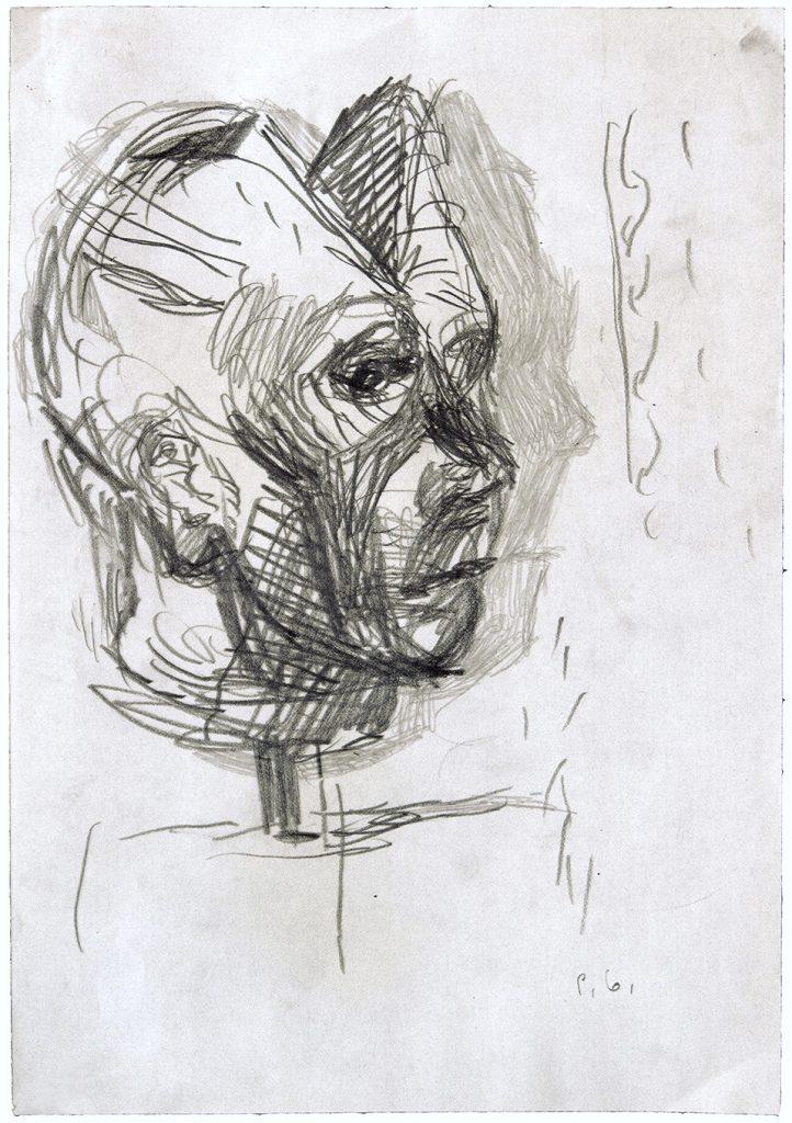 pietro-geranzani-1991-studio-per-autoritratto-con-la-testa-spaccata-1